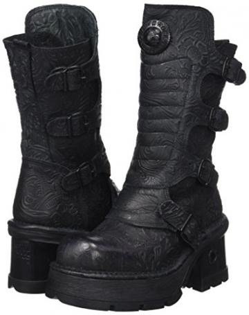 New Rock Damen M-373QX-S2 Biker Boots, Schwarz (Black 001), 38 EU - 5