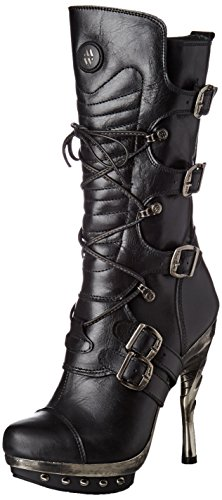 New Rock Damen M-PUNK001-C1 Biker Boots, Schwarz (Black), 38 EU - 1