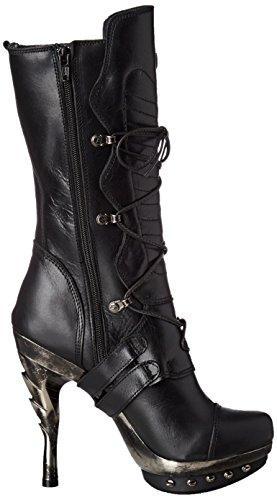 New Rock Damen M-PUNK001-C1 Biker Boots, Schwarz (Black), 38 EU - 6