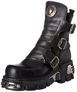 New Rock Unisex-Erwachsene M-1482X-S1 Biker Boots, Schwarz (Black 001), 42 EU - 1