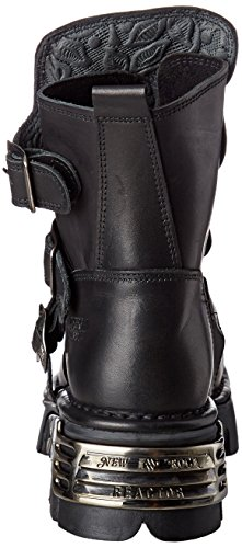 New Rock Unisex-Erwachsene M-1482X-S1 Biker Boots, Schwarz (Black 001), 42 EU - 2
