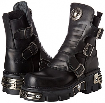 New Rock Unisex-Erwachsene M-1482X-S1 Biker Boots, Schwarz (Black 001), 42 EU - 5