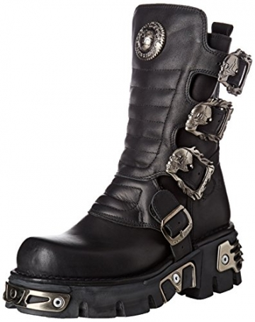New Rock Unisex-Erwachsene M-391X-S1 Biker Boots, Schwarz (Black 001), 44 EU - 1