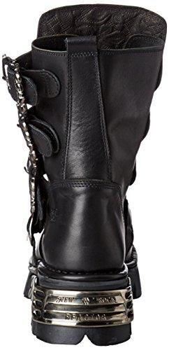 New Rock Unisex-Erwachsene M-391X-S1 Biker Boots, Schwarz (Black 001), 44 EU - 2