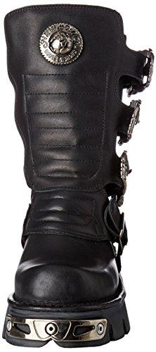 New Rock Unisex-Erwachsene M-391X-S1 Biker Boots, Schwarz (Black 001), 44 EU - 4