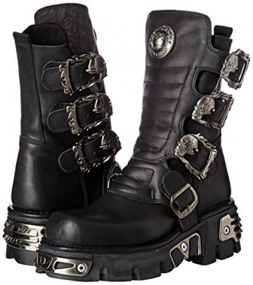 New Rock Unisex-Erwachsene M-391X-S1 Biker Boots, Schwarz (Black 001), 44 EU - 5