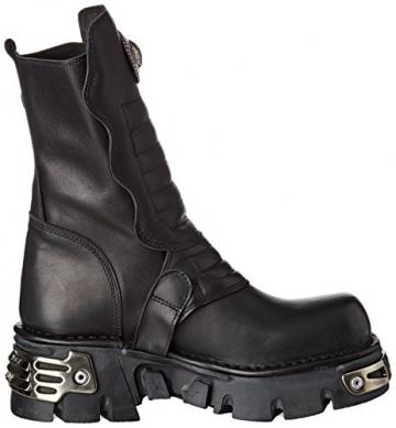 New Rock Unisex-Erwachsene M-391X-S1 Biker Boots, Schwarz (Black 001), 44 EU - 6