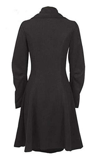 O.AMBW Damen Herbst Winter Trenchcoat Mäntel mit unregelmäßiger Saum Lang Asymmetrisch Mantel Jacke - 2