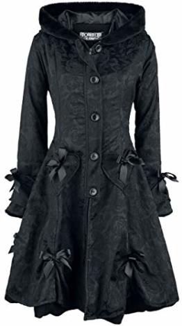 Poizen Industries Alice Rose Coat Wintermantel schwarz S - 1