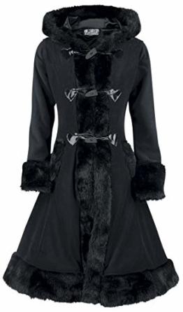Poizen Industries Minx Coat Wintermantel schwarz M - 1