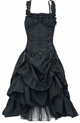 Poizen Industries Soul Dress Mittellanges Kleid schwarz XXL - 1
